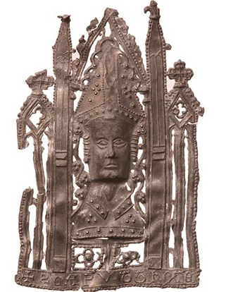 Pilgrim badge of St Thomas Becket (d. 1170), Wikimedia