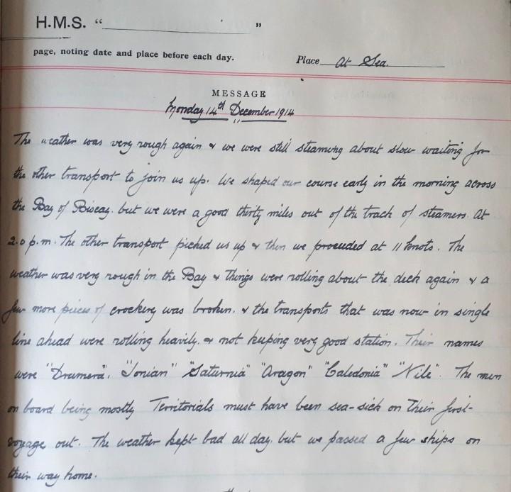 14th December 1914 - lightened